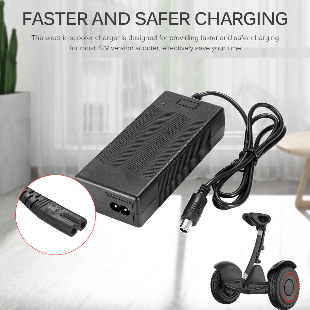 Charger for Xiaomi Mijia M365 Electric Scooter Battery Charging Adapter Indicator Light Safe Charger US/EU Plug Skatebaord Parts