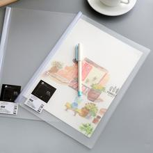 Clip Folder Stationery Office-Supplies Transparent School 12PCS New And A4 Rod PVC Korean