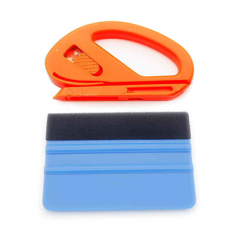 2 Pcs/set Car Vinyl Wrap Tool Set Film Cutter Squeezing Scraper Carbon Fiber Film Wrapping Cutter Aid Tool Window Tinting