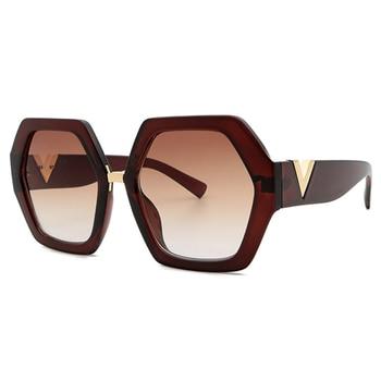 2021 Luxury Square Sunglasses Ladies Fashion Glasses Classic Brand Designer Retro Sun Glasses Women Sexy Eyewear Unisex Shades - Brown