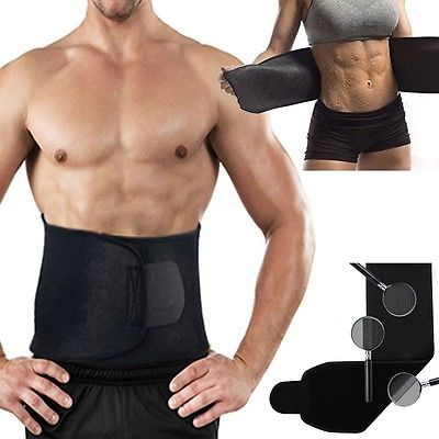 Adjustable Waist Trimmer Exercise Fat Burner Shaper Slimming Lose Weight Body Support Brace Belt Body Shaper Exercise Belly Belt image