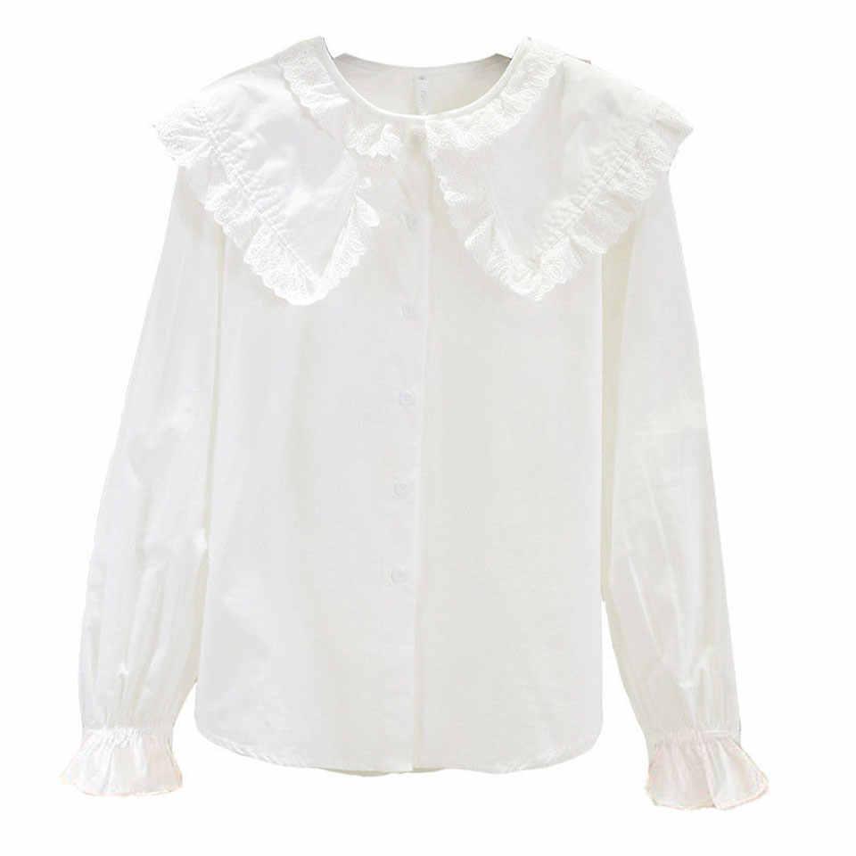 Blusa De Color Blanco Para Niñas De 3 A 12 Años Camisa Fina De Manga Larga Para Primavera Otoño E Invierno Blusas Y Camisas Aliexpress
