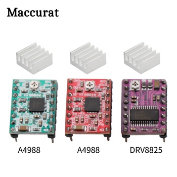 A4988 DRV8825 Stepper Motor Driver With Heat sink 3D Printer Parts StepStick Carrier Reprap RAMPS 1.4 1.5 1.6 MKS GEN V1.4 board