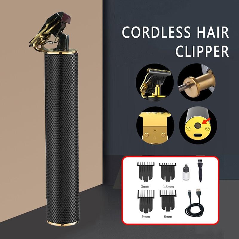 Kemei 1971B Pro Li T-Outliner Skeleton Heavy Hitter Cordless Trimmer Men 0mm Baldheaded Hair Clipper Finish Hair Cutting Scissor