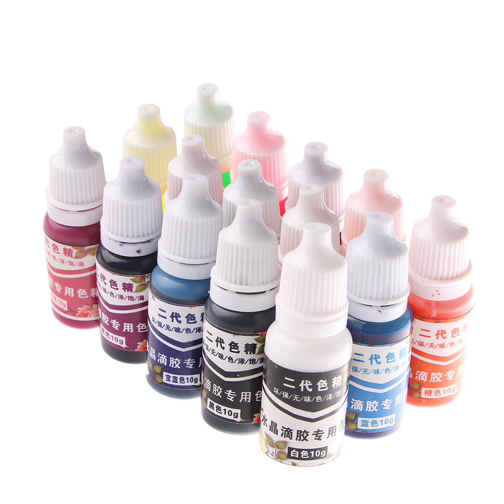 15 Colors 10ML Epoxy Resin Pigment UV Resin Coloring Dye Colorant Resin Pigment DIY Handmade Crafts Art Sets