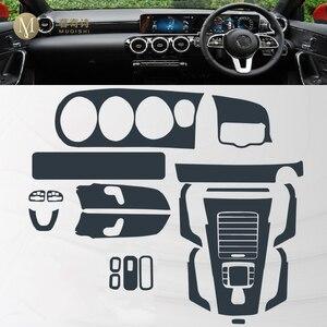 Image 4 - طبقة حماية شفافة من البولي يوريثان الحراري مضادة للخدش ، داخلية للسيارة Mercedes Benz A Class W177 A180 A200 A250 2019 2020