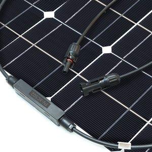 Image 4 - 中国柔軟なソーラーパネル 100 ワット 18v 太陽光パネルソーラーキャンプライト 12v バッテリー充電器、モノラル太陽電池オスとメスのコネクタ