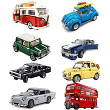 Car Bricks Bus Compatible 10220 10252 10242 10248 10262 10265 Model Building Blocks Boys Girls Birthday Gifts Toys for Children
