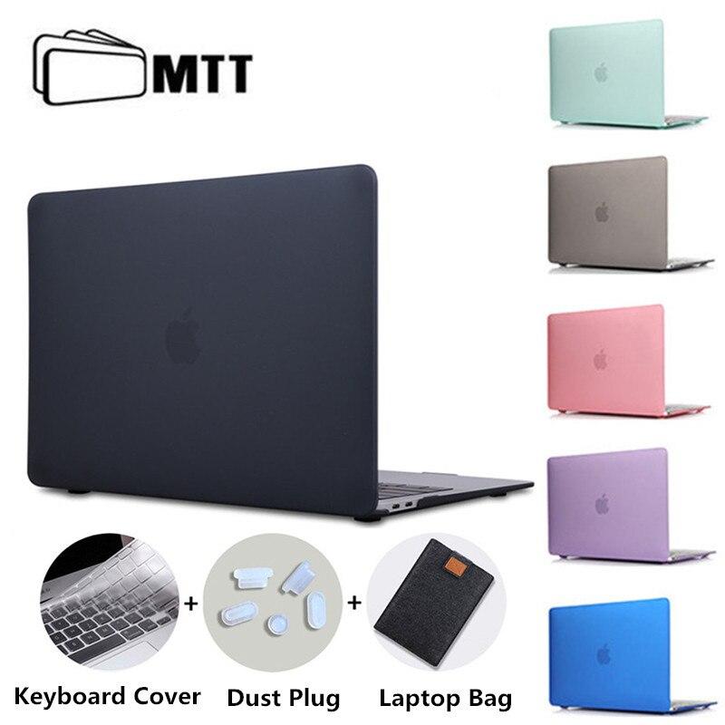MTT матовый чехол для ноутбука Macbook Pro 13,3 16 дюймов 2019 чехол для apple mac book Air Pro Retina 11 12 13 15 с сенсорной панелью Funda