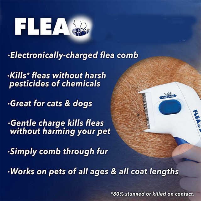 Automatic Pet Dog Electric Flea Comb Ticks Removal Tools