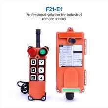 Controle remoto industrial do guindaste do guincho F21 E1 24v 36v 48v 220v 380v 1 transmissor 1 receptor para o guindaste da grua por atacado
