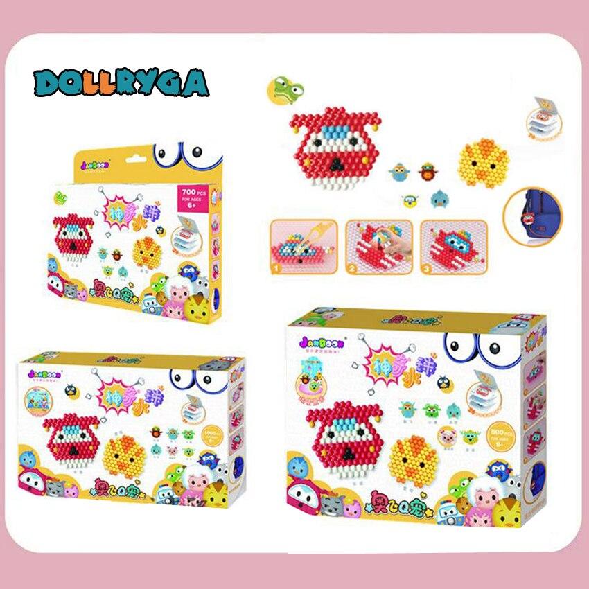 DOLLRYGA Water Sticky Beads Box Set Cartoon Toy DIY Magic Aqua Handmade Bead Paper Accessories Educational Puzzle Toys For Kids