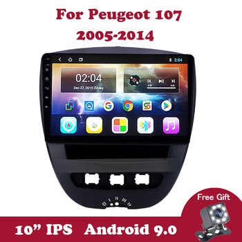 Android 9.0 IPS Car Multimedia Video Player For Peugeot 107 Toyota Aygo Citroen C1 2005-2011 2012 2013 2014 Car Radio GPS Navi image