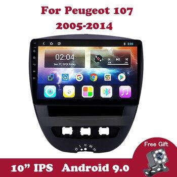 цена на Android 9.0 IPS Car Multimedia Video Player For Peugeot 107 Toyota Aygo Citroen C1 2005-2011 2012 2013 2014 Car Radio GPS Navi