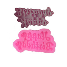Silicone 3D Happy Birthday Letters Numbers Mold For Ice Jelly Chocolate Cake Dessert Decorating Tools Mould