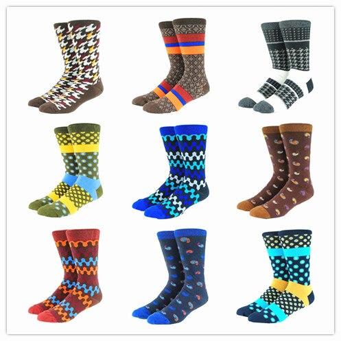 Happy Funny Multi Pattern Men Socks  (Very Long)