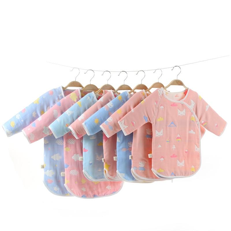 Six-layer Pure Cotton Gauze Children Sleeping Bag 6 Layers Of Cotton Cheongsam Pajamas Autumn And Winter Thick Thin Soft Babies'