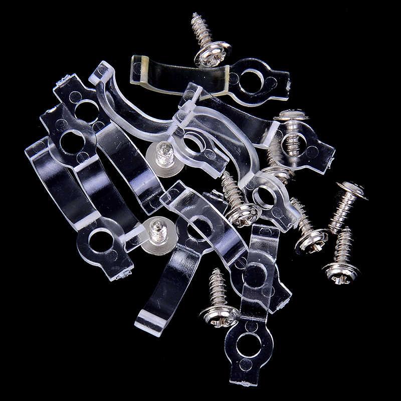 10 sztuk 8/10mm IP65 3528 3014 5050 taśma LED rgb LED łuku pasek klip silikonowy do mocowania wodoodporna lampa uchwyt zacisk za pomocą śrub
