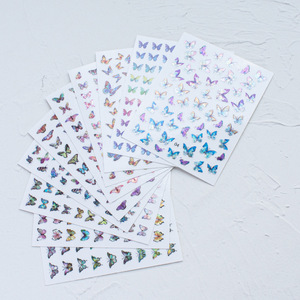 3D Butterfly Nail Art Stickers Adhesive Sliders Colorful Nail Transfer Decals Foils Wraps Decorations Transfer Slider Manicure