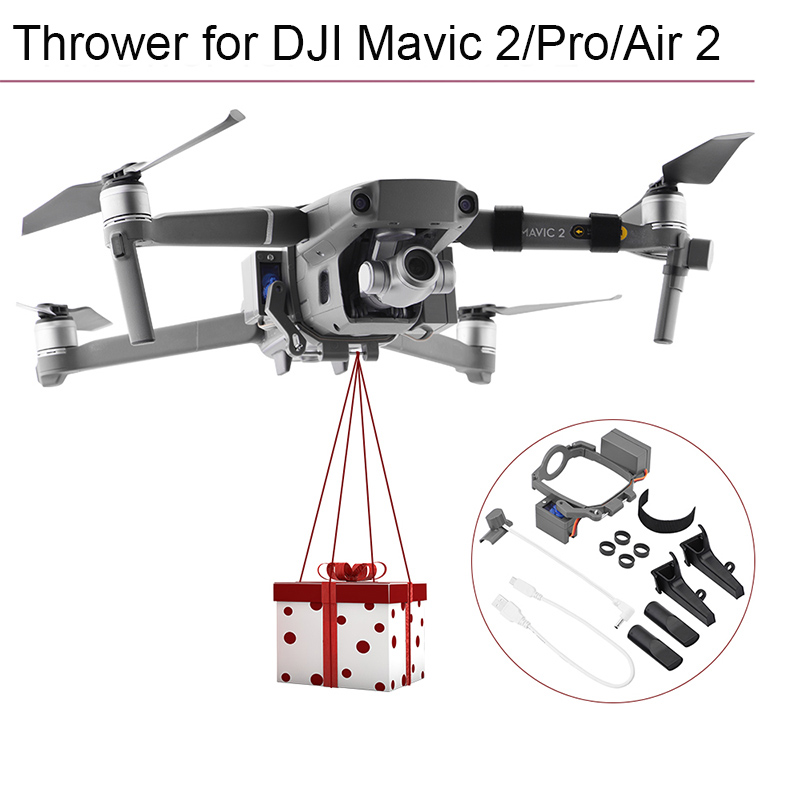 Remote Thrower for DJI Mavic 2 Pro Zoom Air 2 Fishing Bait Delivery Parabolic Air-Dropping System Drone Quadcopter Accessories