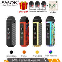 SMOK RPM40 Kit 40W 4.3ml&4.5ml Mesh 0.4ohm&Nord Dc 0.6ohm 0.96inch TFT Screen 1500mAh Battery Electronic Cigarette
