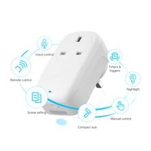 BroadLink BestCon SP4L Smart Wi Fi Spina UK con Dimmerabile Luce di Notte per Smart Home, Casa Intelligente Prodotti