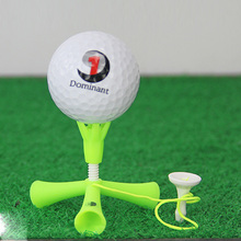 Mini Golf Tee Ball Holder Anti-flying Rotatable Tripod Accessories Practice Aids Adjustable Height Self Standing Training