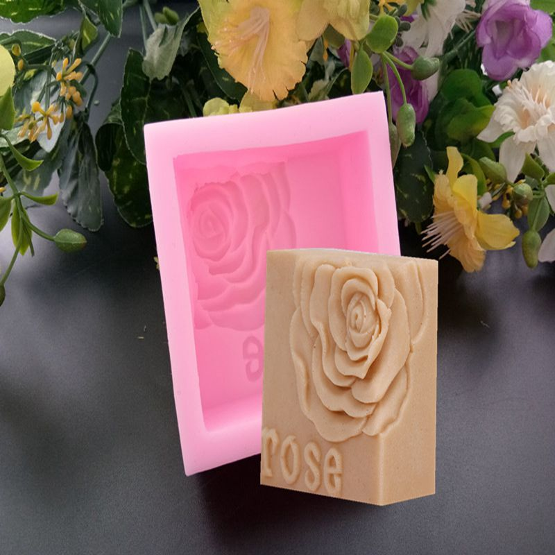 Rose Soap Mold Flower Silicone Soap Mold Making Candle Mold 3D Flower Silicone Molds For Soap Cake Chocolate Crafts Soap Form