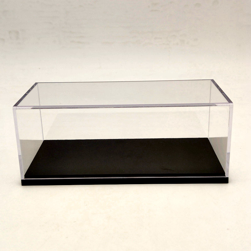 Model Car Acrylic Case Display Box Cover Transparent Dust Proof Whole Window 16cm 1:43 1:64
