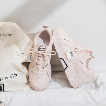 Small White Shoes Woman 2020 Season Ventilation Student Run Skate Shoes Woman Flat Bottom Chalaza Ins Shoes Woman