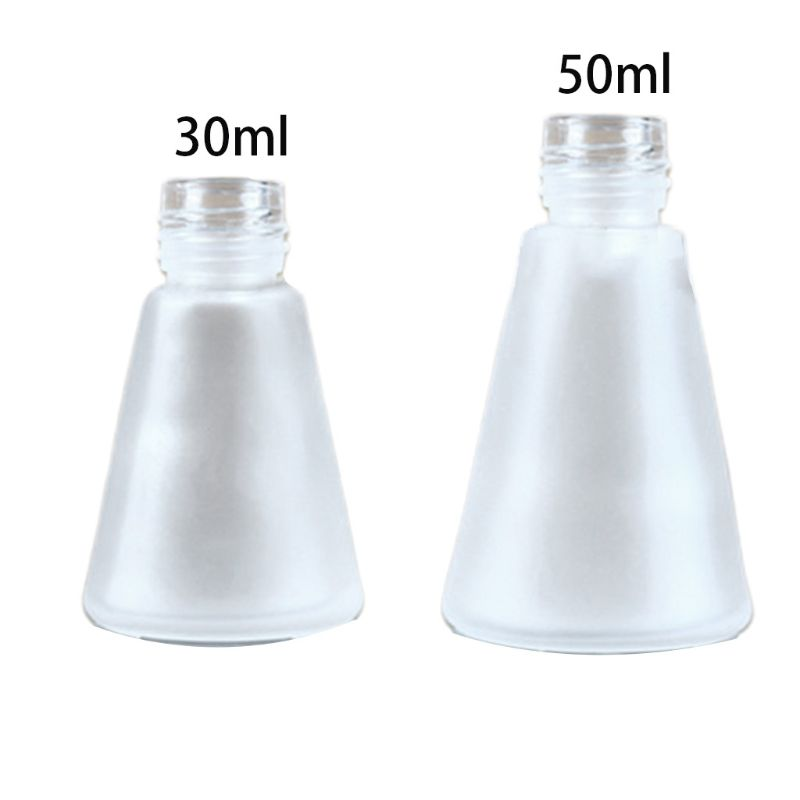 Clear Glass Aroma Diffuser Empty Bottles Scrub Cone Containers For Essential Oils DIY Replacement Reed Jars Wedding Party Decor