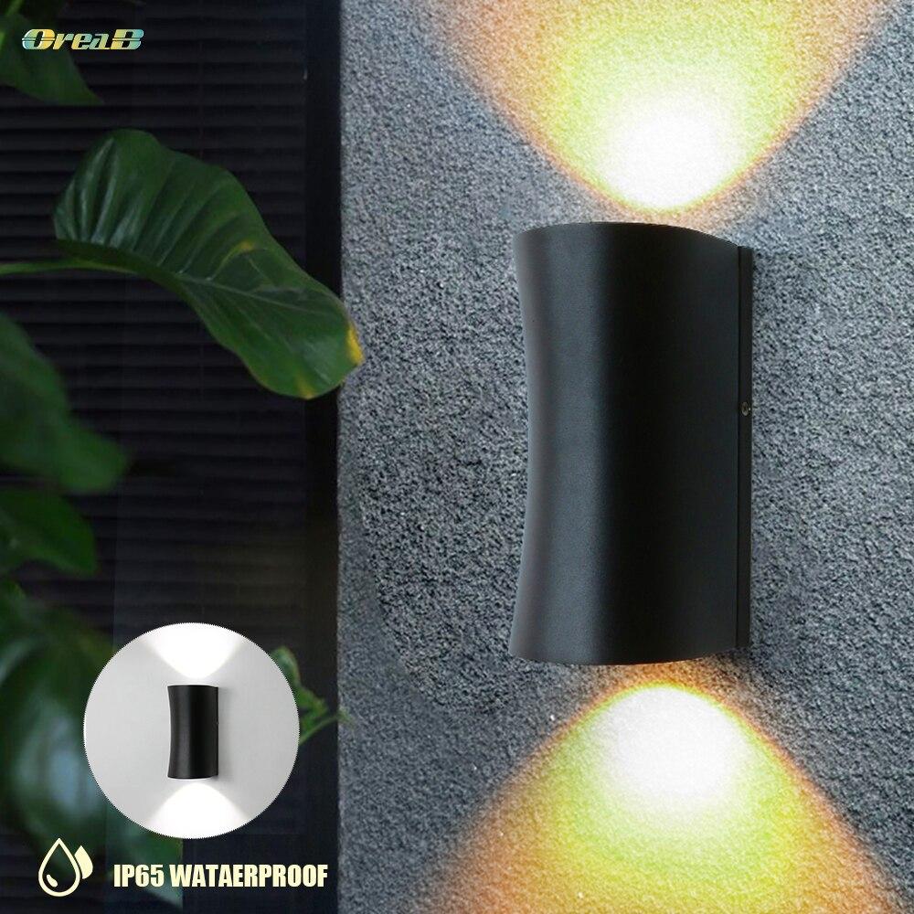 arte deco diferente para cima para baixo impermeavel exterior luzes de parede preto 240 v 12