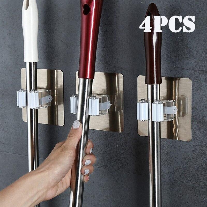 4 шт клей многоцелевой крючки настенный Швабра Организатор RackBrush веник вешалка крючок Кухня ванная комната сильные магнитные крючки|Крючки и направляющие|   | АлиЭкспресс