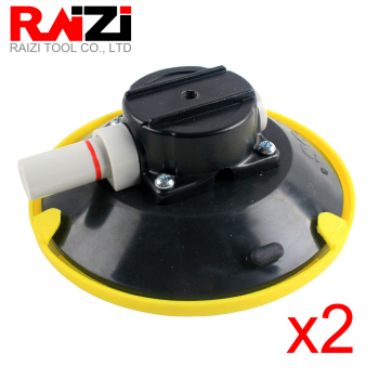 Raizi 2pcs 150mm Vacuum Hand Pump Suction Cup Car Camera Mount Base Heavy Duty Stone Seamer Granite M6 Glass Sucking Lifter