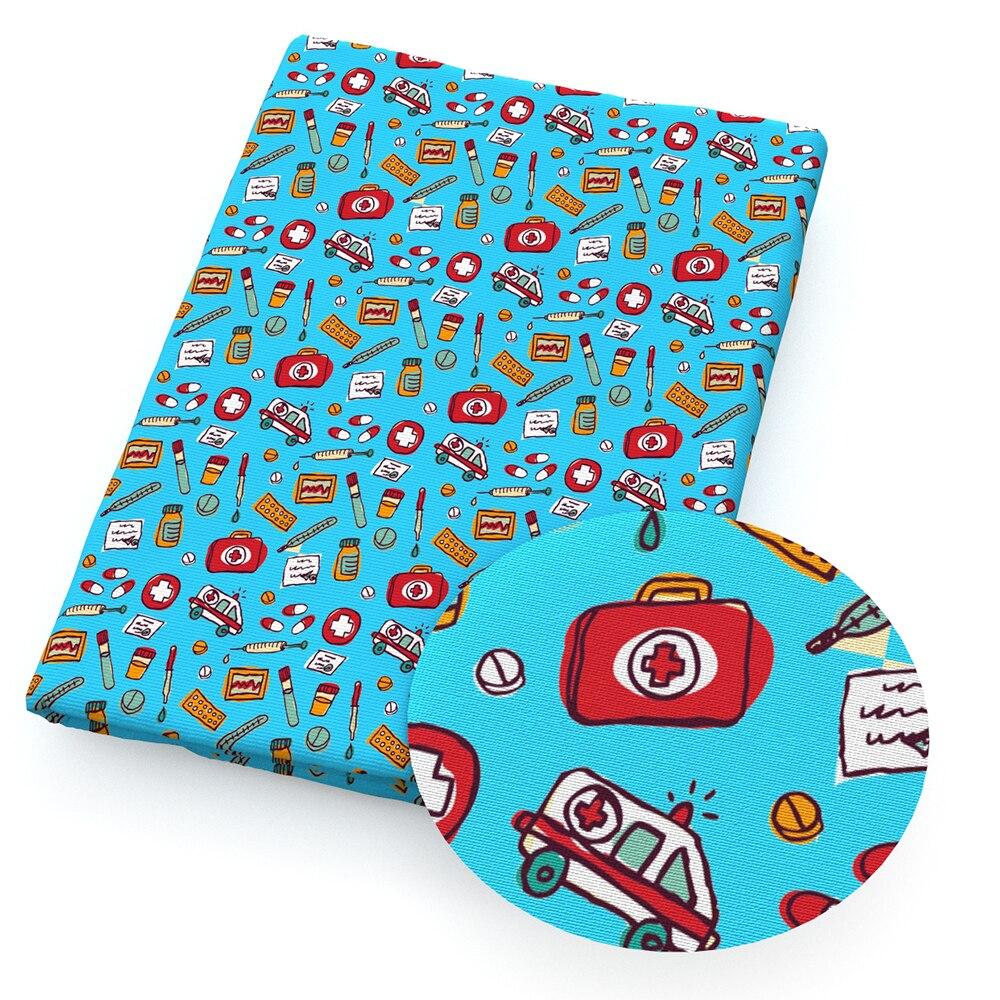 140cm Enfermeras Doctor Patchwork Impreso 100/% Tela de algod/ón para Tejidos para el hogar Textil para coser-1105230003 YZMY 50