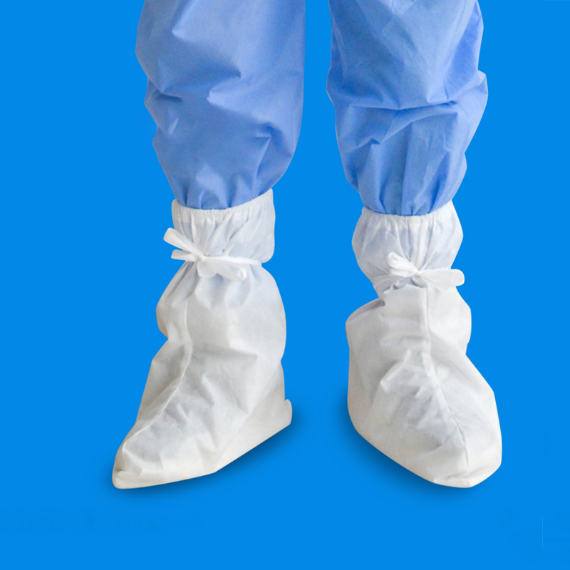 Pratical Disposable Shoe Cover  Protective Boots Waterproof Plastic Disposable Shoe Cover Elastic Protective Shoe Cover