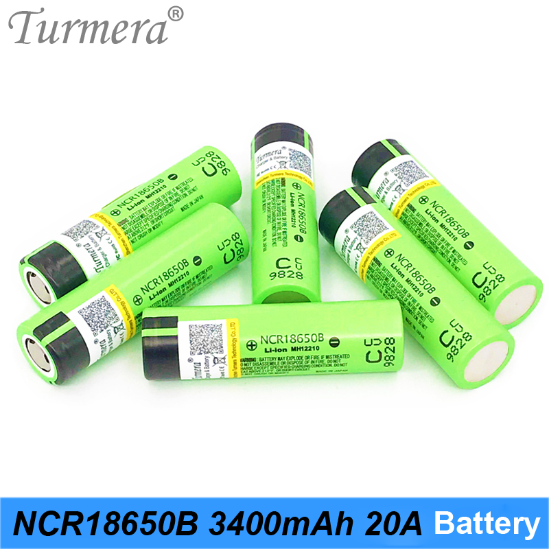 Turmera 100% Original 18650 Battery NCR18650B 3.7V 3400mAh 20A Rechargeable Lithium Battery for Screwdriver Flashlight Battery|Replacement Batteries|   - AliExpress