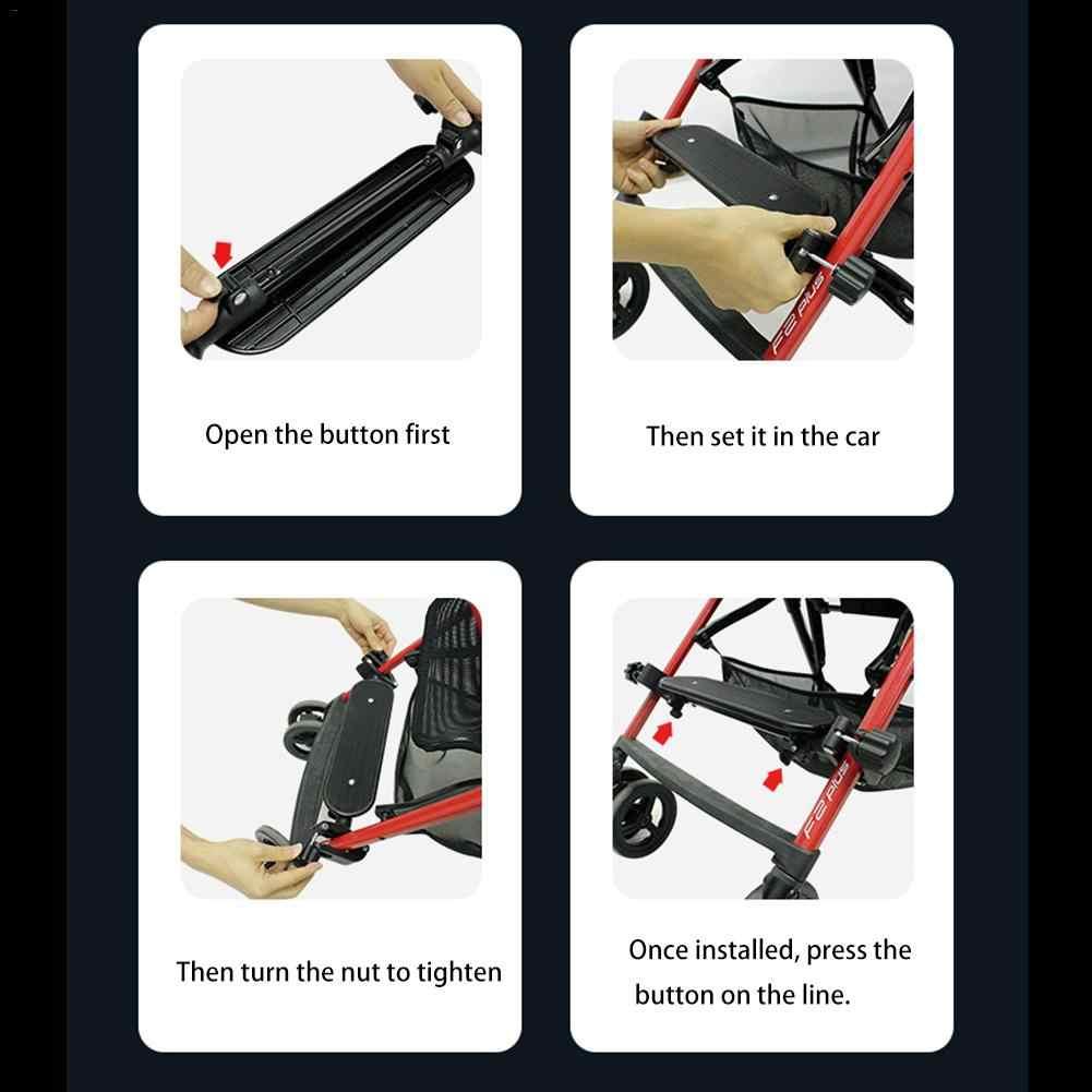 Wózek dla dziecka akcesoria regulowany pedał stopy długi stóp paleta przenośny parasol przeciągnij akcesoria wózek dziecięcy pedał