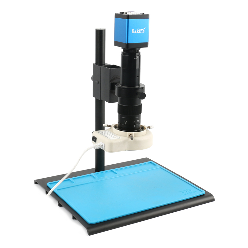 2019 720P HDMI VGA Industrial Digital Video Microscope Camera + 300X C Mount Lens + 56 LED Ring Light + Stand For PCB Soldering