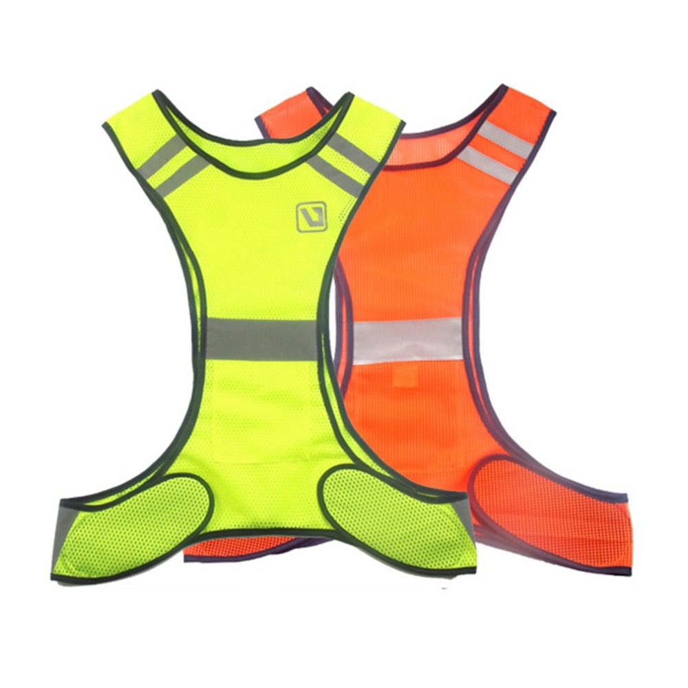 Running High Visibility Reflective Vest Fluorescent Yellow Orange Security Waistcoat For Night Outdoor Running Riding Vests