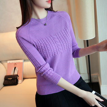 Knitted Women Autumn Winter Pullover Sweater 2020 New Ladies Korean Sweater Female Long Sleeve Jumper Twist Pullover Pull Femme bow knitted pullovers autumn winter women sweater jumper pullover sleeve long 2020 high elasticity fall sweater women pullover