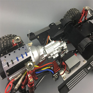 Image 4 - Heavy Duty Replacement Metal Two Speed V8 Engine Gearbox for 1/10 Axial SCX10 II 90046 RC Car Parts