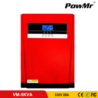 5000W MPPT Solar Inverter Pure Sine Wave Hybrid Inverter 80A All in One Solar Panel Charger and AC Charger 220V/230VAC for 500V