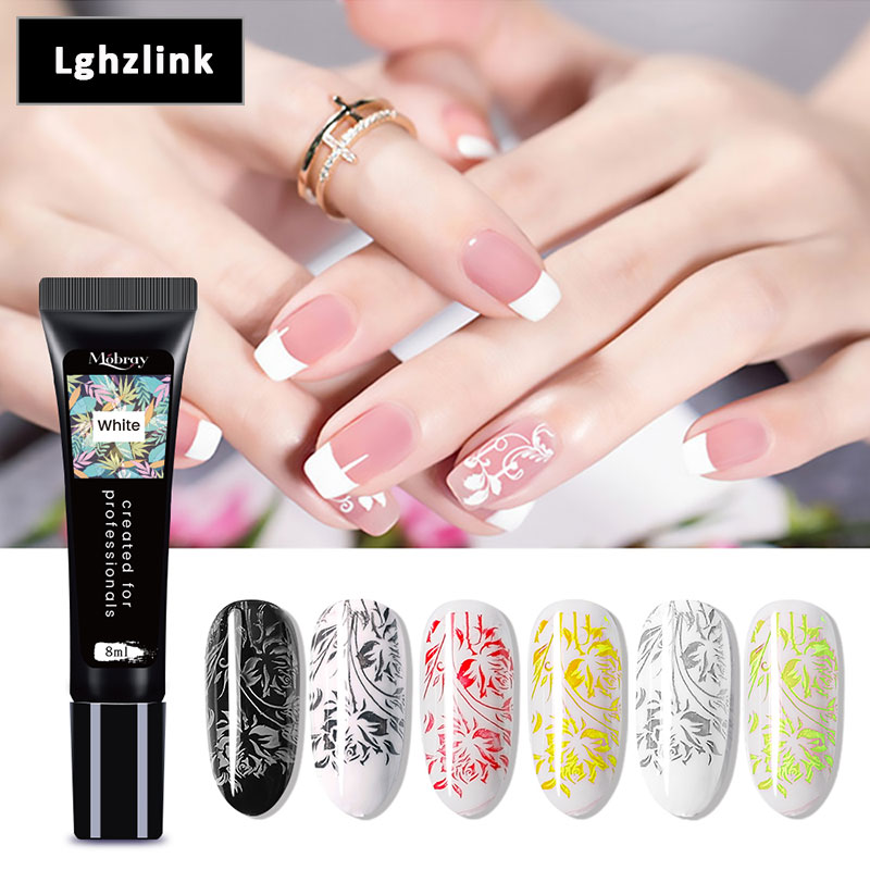 Beateal 8ml Gold Silver Stamping Gel Nail Polish Soak Off Nail Gel Paint For Stamping Long Lasting Manicure For Nails Design