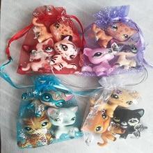 3 шт Случайные животные стоячие игрушки lps короткие волосы кошка колли такса спаниель отличный Дэн игрушка для ребенка подарок