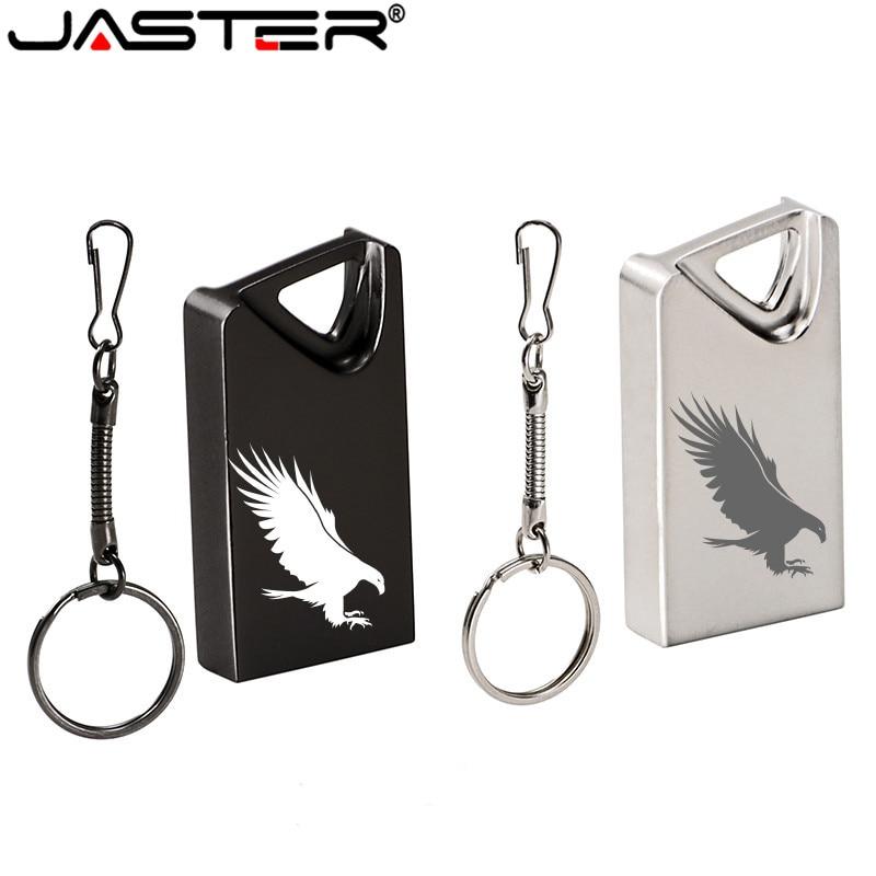 JASTER USB 2.0 Mini Usb Flash Drive Pendrive Pen Drive 64GB 32GB 16GB 4GB Flash Memory Stick Gifts 1PCS Free Custom Logo