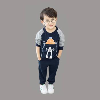 2018 Baby Girl odzież zestawy dla dzieci dla niemowląt odzież stroje garnitury 2 sztuk ubrania dla dzieci bawełna zestawy ubranek dla małego dziecka chłopców odzież dla niemowląt tanie i dobre opinie Unini-yun Moda Pełna Cartoon O-neck REGULAR Pasuje prawda na wymiar weź swój normalny rozmiar Swetry 11 5 14 5 Płaszcz