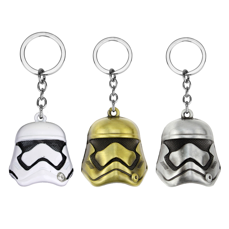 11 Style Star Wars Keychain StormTrooper Helmet Storm Trooper Pendant Key Chain Darth Vader Mask Superhero Keyring Key Chain