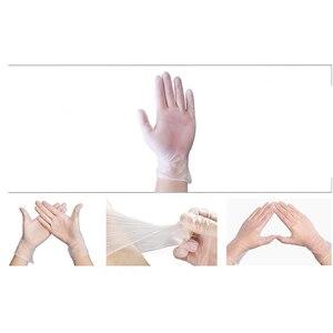 Image 5 - قفازات التفتيش القابل للتصرف واقية قفازات من اللاتكس خالية من مسحوق خدر صناعة التموين المنزلية تنظيف قفازات بلاستيكية 100/صندوق