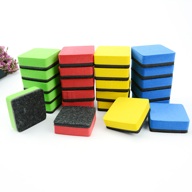 Felt Flannel 5*5 Small Squares With Magnetic Blackboard Easer Currently Available-Eva Plush Cloth White Board Wiper Magnetic Chi